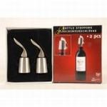 RVS Flessenstopper. 2 delig, nog 1 beschikbaar  opruiming