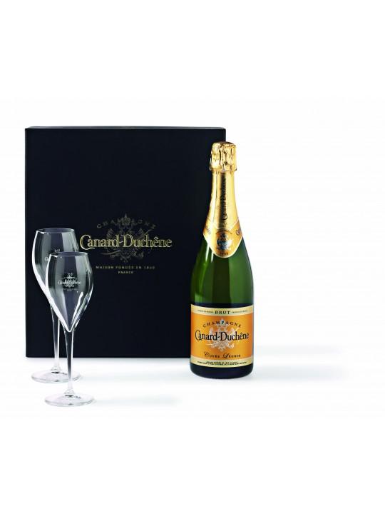champagne canard duch ne brut luxe geschenkverpakking. Black Bedroom Furniture Sets. Home Design Ideas