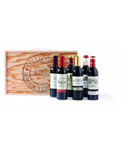 Collectie Bordeaux wijnen in geschenkverpakking