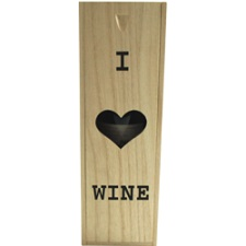 Wijnkist hout 1 fles of 2 flessen incl. schuifdeksel